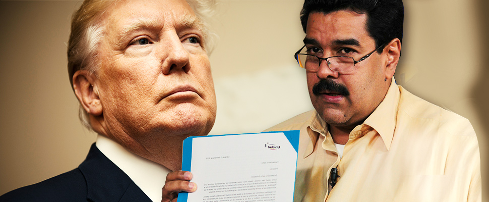 Is Maduro trying to better his relationship with Trump?
