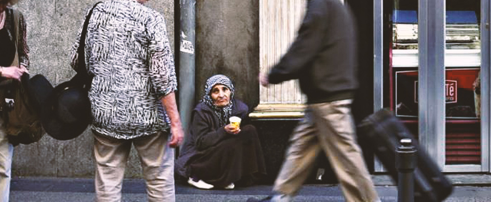 Spain: Beggars in churches