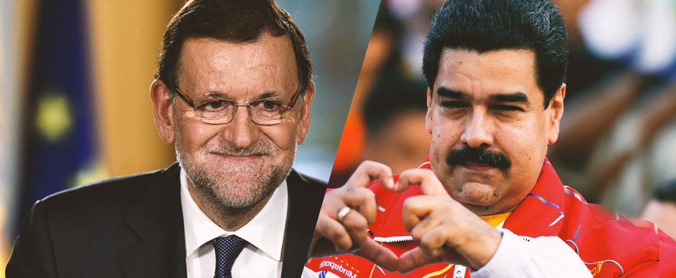 Rajoy seems to be helping Maduro